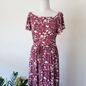LOFT Synthetic Rosa Off The Shoulder Maxi Dress